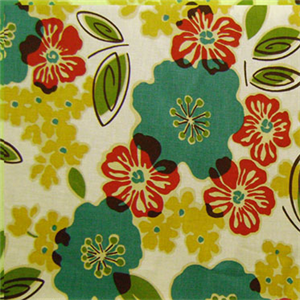Sydney Tropic Blue Floral Cotton Print Drapery Fabric By