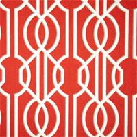 Deco Poppy Orange Contemporary Cotton Print Drapery Fabric by Richtex Premium Prints 30 Yard Bolt