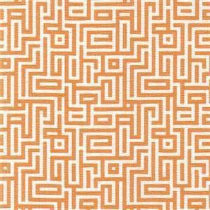 Interlochen Tango Orange Contemporary Cotton Print Drapery Fabric by Premium Prints Swatch