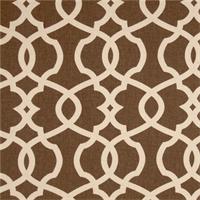 Emory Chocolate Brown Contemporary Cotton Print Drapery Fabric by Richtex Premium Prints 30 Yard Bolt