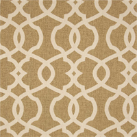 Emory Wheat Tan Contemporary Cotton Print Drapery Fabric by Richtex Premium Prints 30 Yard Bolt