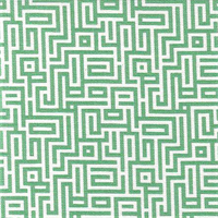 Interlochen Emerald Green Contemporary Cotton Print Drapery Fabric by Premium Prints 30 Yard Bolt