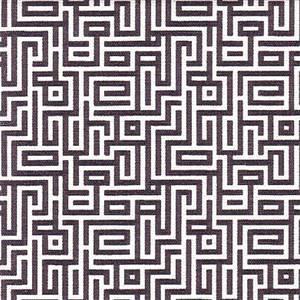 Interlochen Onyx Black Contemporary Cotton Print Drapery Fabric by Premium Prints Swatch