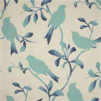 Rockin Robin Breeze Bird Cotton Drapery Fabric