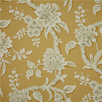 Brookhaven Marigold Yellow Floral Cotton Print Drapery Fabric by Richtex Premium Prints
