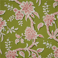 Brookhaven Frolic Green Floral Cotton Print Drapery Fabric by Richtex Premium Prints