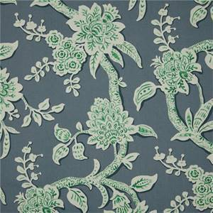 Brookhaven Aquarius Green Floral Cotton Print Drapery Fabric by Richtex Premium Prints
