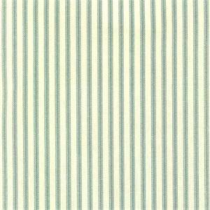Berlin Lake Blue Ticking Cotton Print Drapery Fabric by Richtex Premium Prints