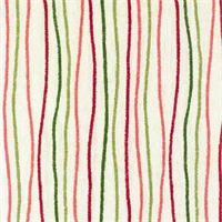 Streamers Poppy Pink Striped Cotton Print Drapery Fabric by Premium Prints Swatch