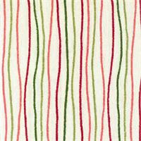 Streamers Poppy Pink Striped Cotton Print Drapery Fabric by Premium Prints 30 Yard Bolt