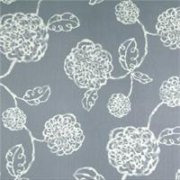 Adele Sail Blue Floral Cotton Print Drapery Fabric by Richtex Premium Prints 30 Yard Bolt