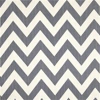 Chevy Navy Blue Chevron Cotton Print Drapery Fabric by Richtex Premium Prints Swatch