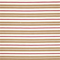 Hamtpton Rye Brown Striped Cotton Print Drapery Fabric by Premium Prints 30 Yard Bolt
