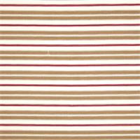 Hamtpton Rye Brown Striped Cotton Print Drapery Fabric by Premium Prints 30 Yard Bolt