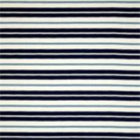 Hamtpton Navy Blue Striped Cotton Print Drapery Fabric by Premium Prints Swatch