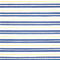 Hamtpton Tranquil Blue Striped Cotton Print Drapery Fabric by Premium Prints Swatch