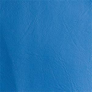 Expanded Vinyl Medium Blue Upholstery Fabric