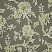 Brookhaven Granite Grey Floral Cotton Print Drapery Fabric by Richtex Premium Prints Swatch