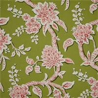 Brookhaven Frolic Green Floral Cotton Print Drapery Fabric by Richtex Premium Prints 30 Yard Bolt