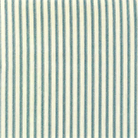 Berlin Ocean Blue Ticking Cotton Print Drapery Fabric by Richtex Premium Prints Swatch