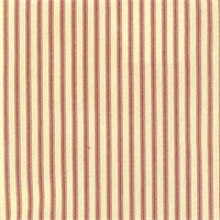 Berlin Red Ticking Cotton Print Drapery Fabric by Richtex Premium Prints 30 Yard Bolt