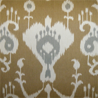 Java Umber Ikat Drapery Fabric by Richtex Premium Prints 30 Yard Bolt