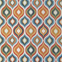 Flicker Jewel Turquoise Blue Woven Upholstery Fabric Swatch