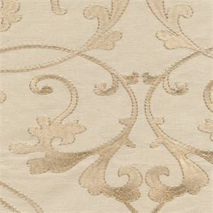 Cemb 94 Greige Eggshell Cream Geometric Floral Cotton Canvas Embroidered Drapery Fabric