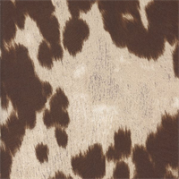Uddermadness Milk Brown Faux Fur Upholstery Fabric Swatch