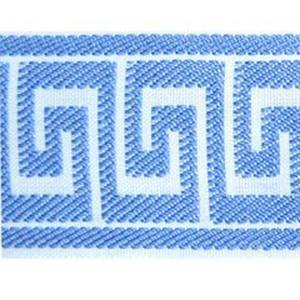 Greek Key Sky Blue Tape Trim