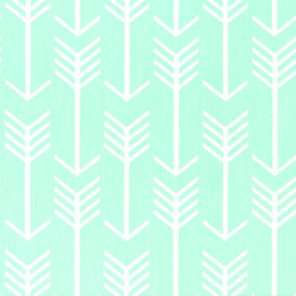 Arrow Mint Twill Printed Drapery Fabric by Premier Prints - 49633