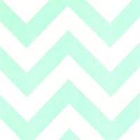 Zippy Mint Twill Large Chevron Print Drapery Fabric by Premier Prints