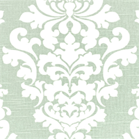 Berlin Artichoke Slub Green Floral Drapery Fabric by Premier Prints