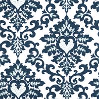 Cecilia Premier Navy Floral Print Drapery Fabric by Premier Prints