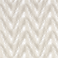 Rhodes Ecru Grey Flame Stitch Print Drapery Fabric by Premier Prints