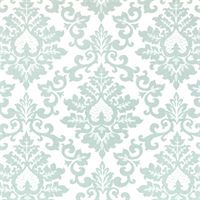 Cecilia Snowy Blue Floral Print Drapery Fabric by Premier Prints