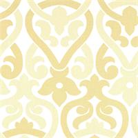 Alex Saffron Yellow Contemporary Print Drapery Fabric by Premier Prints