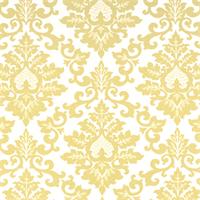 Cecilia Saffron Yellow Floral Print Drapery Fabric by Premier Prints