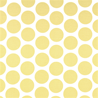 Fancy Saffron Yellow Dot Print Drapery Fabric by Premier Prints