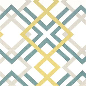 Winston Saffron Yellow Contemporary Print Drapery Fabric By Premier