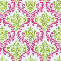 Madison Candy Pink/Chartreuse by Premier Prints - Drapery Fabric