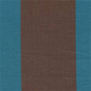 Regalia 132 Blue Brown Stripe Cotton Upholstery Fabric Swatch