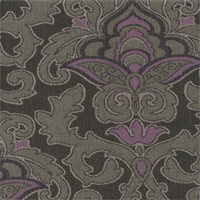 Isabelle Lavender Purple Floral Upholstery Fabric Swatch