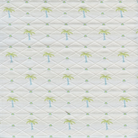 Palm Tree 147 Blue Green Diamond Dot Upholstery Fabric Swatch