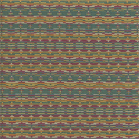 Sunberry Fiesta Blue Green Horizontal Dot and Dash Stripe Upholstery Fabric Swatch