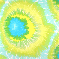 Tie Dyed Lime Green Printed Drapery Fabric by Premier Prints
