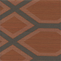 Luks Orange Geometric Upholstery Fabric Swatch