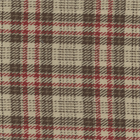 Fireside Brick Red Brown Plaid Upholstery Fabric Swatch