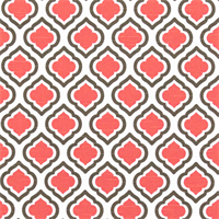 Curtis Bittersweet Slub Pink Moroccan Tile Drapery Fabric by Premier Prints