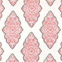 Monroe Bittersweet Slub Pink Floral Print Drapery Fabric by Premier Prints